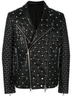 байкерская куртка с заклепками Balmain