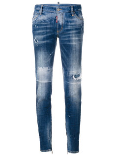 состаренные джинсы скинни  Dsquared2