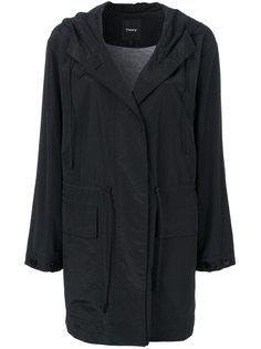 пальто со шнурком и капюшоном  Theory