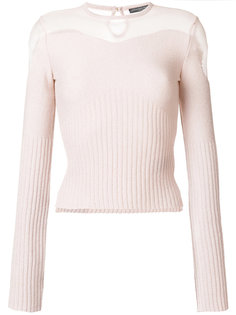 свитер с прозрачными панелями Alexander McQueen