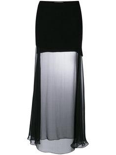 прозрачная длинная юбка Givenchy