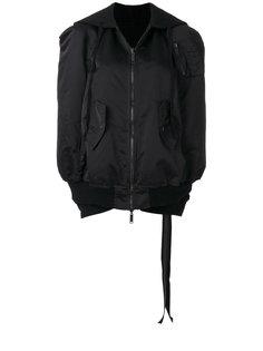 куртка-бомбер в стиле кейпа с капюшоном Unravel Project