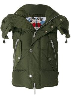 куртка в стиле милитари с капюшоном Dsquared2