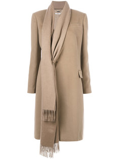 пальто с элементом шарфа Givenchy