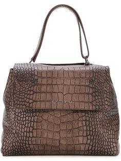 сумка-тоут с эффектом крокодиловой кожи Orciani