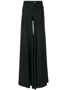 расклешенные брюки в тонкую полоску Mm6 Maison Margiela