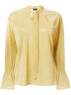 блузка-шифт с завязкой на мягкий бант Roberto Collina