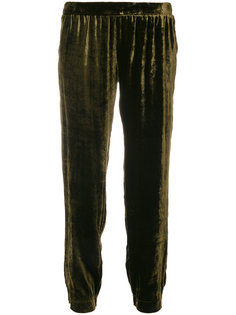 присборенные бархатные брюки Roberto Collina