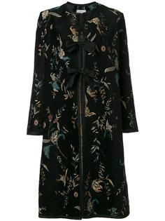 пальто с цветочным принтом с завязкой  Forte Forte