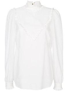 рубашка с контрастной отделкой  Veronique Branquinho