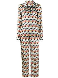 пижама с геометрическим принтом  Prada