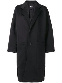 пальто свободного кроя с воротником Y-3