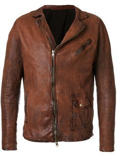 байкерская куртка с эффектом помятости Salvatore Santoro