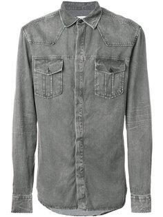 классическая рубашка с потертой отделкой Pierre Balmain