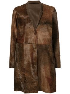 пальто со скрытой застежкой на пуговицы Salvatore Santoro