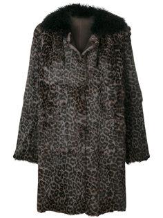 пальто с леопардовым рисунком Salvatore Santoro