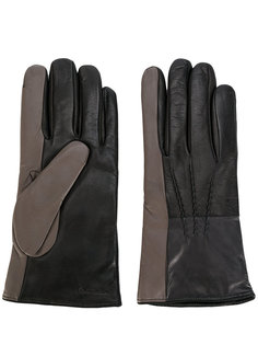 перчатки дизайна колор-блок Paul Smith