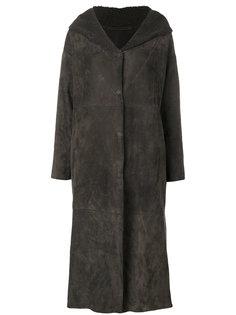 пальто с капюшоном Salvatore Santoro