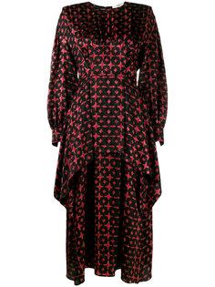 многослойное асимметричное платье Fendi