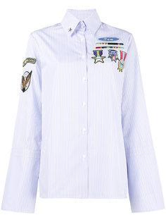 рубашка в полоску с нашивками  Mira Mikati