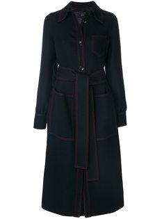 пальто с контрастной строчкой  Joseph