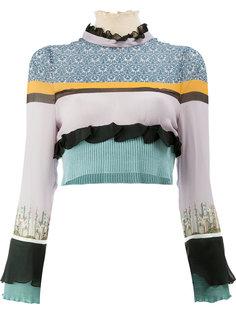 укороченная блузка в полоску  Undercover