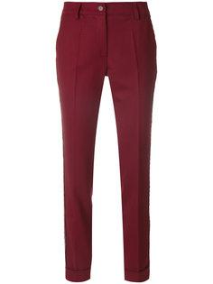 брюки с полоской с заклепками по бокам P.A.R.O.S.H.