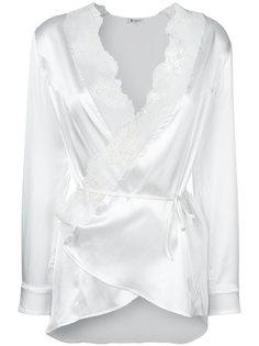 блузка с кружевными вставками Dondup