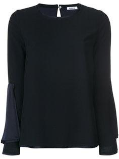 блузка с рукавами-колокол P.A.R.O.S.H.