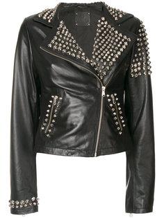 байкерская куртка с заклепками P.A.R.O.S.H.