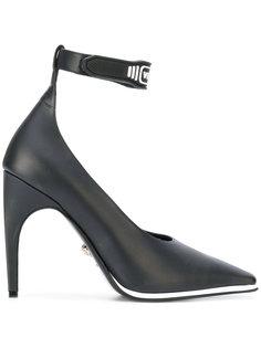 туфли-лодочки с тисненым логотипом Versace