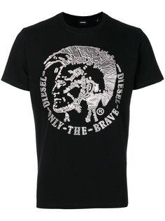 футболка с аппликацией с логотипом Diesel