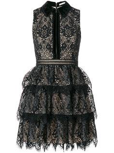 приталенное кружевное платье  Alice+Olivia