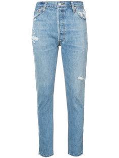 узкие джинсы с протертостями Re/Done