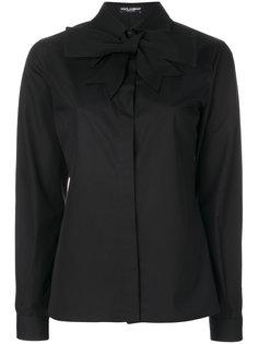 классическая рубашка с воротником с завязкой на бант Dolce & Gabbana