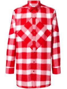свободная клетчатая рубашка Givenchy