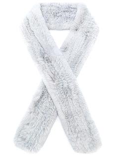 меховой шарф Yves Salomon