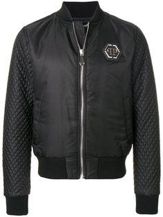 куртка-бомбер  со стегаными рукавами Philipp Plein