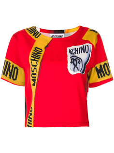 футболка с логотипом и графическим принтом  Moschino