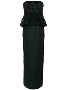 длинное платье без бретелей Alberta Ferretti