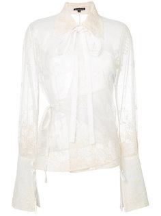 сетчатая вышитая блузка Ann Demeulemeester