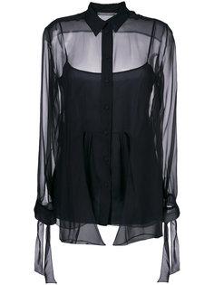 прозрачная блузка с рукавами с завязками Alberta Ferretti