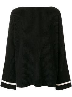 свитер с вырезом-лодочка и расклешенными рукавами Haider Ackermann