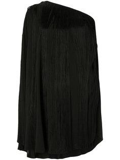 платье на одно плечо с бахромой Saint Laurent