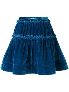 мини-юбка с оборкой  Alberta Ferretti