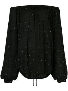 блузка в крестьянском стиле с заклепками Saint Laurent