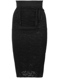 юбка-карандаш с корсетной вставкой Dolce & Gabbana