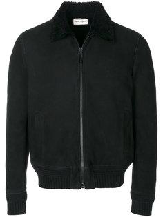 куртка-авиатор с воротником из овечьего меха Saint Laurent