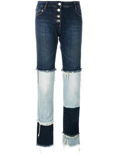 двухцветные джинсы Each X Other