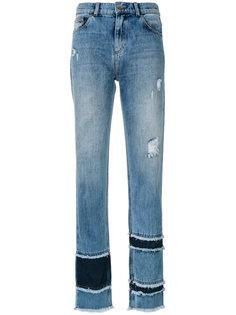 джинсы прямого кроя с бахромой Each X Other
